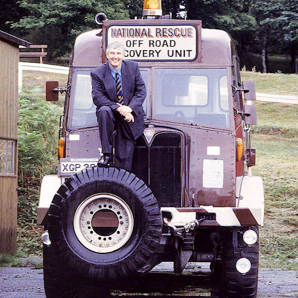 Andy Lambert with His Militant recovery Vehicle